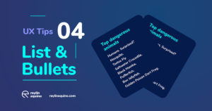UX Tips 004 - Lists with Bullets and Indentation