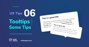 UX Tips 006 - Tooltips must have Shadows and Strong text