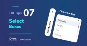 UX Tips 007 - Select Box, Arrow indication & Hover Shading