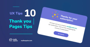 UX Tips 10 - Thanks You Page More Memorable